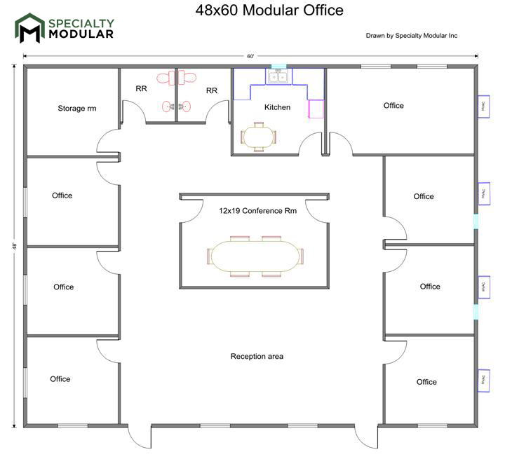 Specialty modular inc for Office room plan